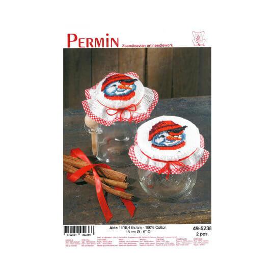 Permin 16 cm Kardanadam Desenli Şişe Kapağı Etamin Kiti - 495238