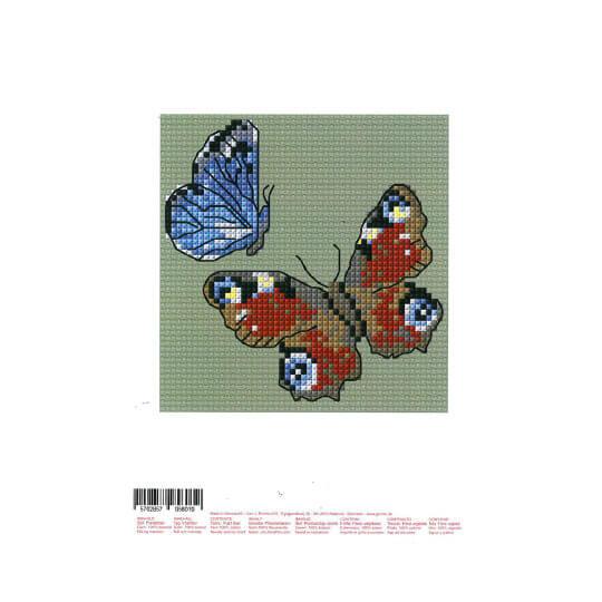 Permin 10x10 cm Kelebek Desenli Suda Eriyebilen Etamin Kiti - 795801