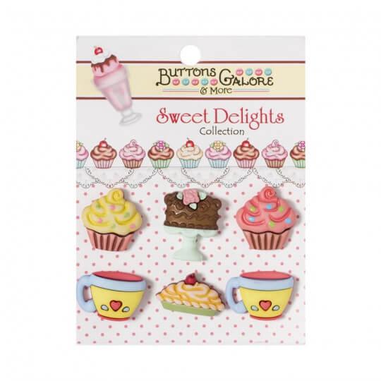 Kartopu Cupcake Şeklinde Dekoratif Düğme - SD107