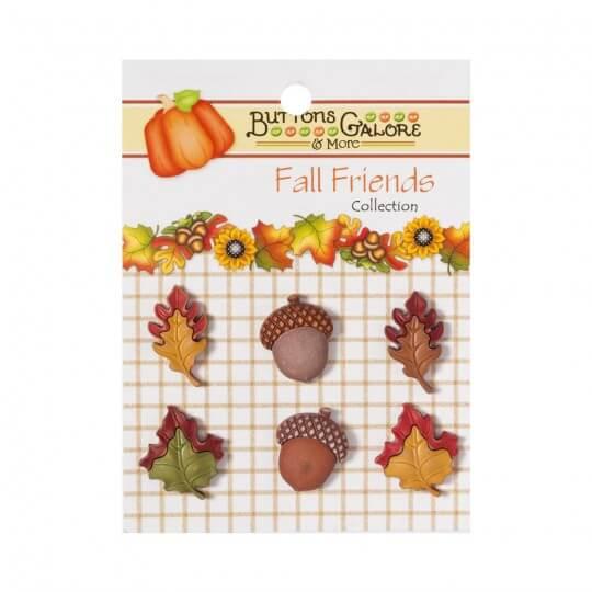 Kartopu Sonbahar Desenli Dekoratif Düğme - FA103