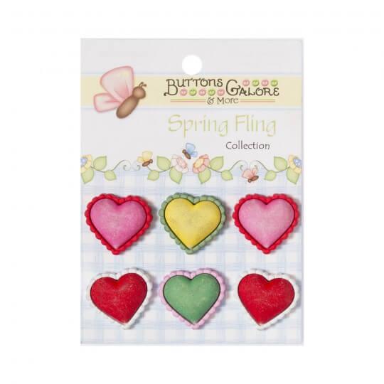 Kartopu Kalp Desenli Dekoratif Düğme - SF111