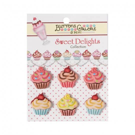 Kartopu Cupcake Şeklinde Dekoratif Düğme - SD100