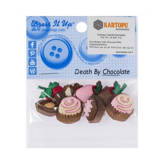 Kartopu Çikolata Şeklinde Dekoratif Düğme - 7803