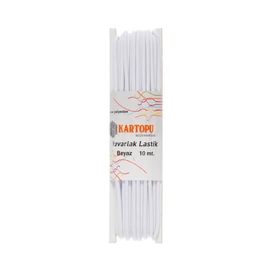 Kartopu 10 mt. Beyaz Yuvarlak Lastik- K011.1.0018