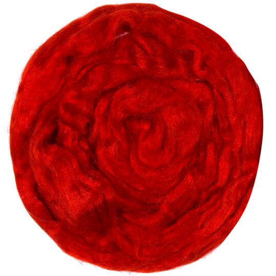 Gazzal Lurex Kırmızı Yün Keçe - 6503