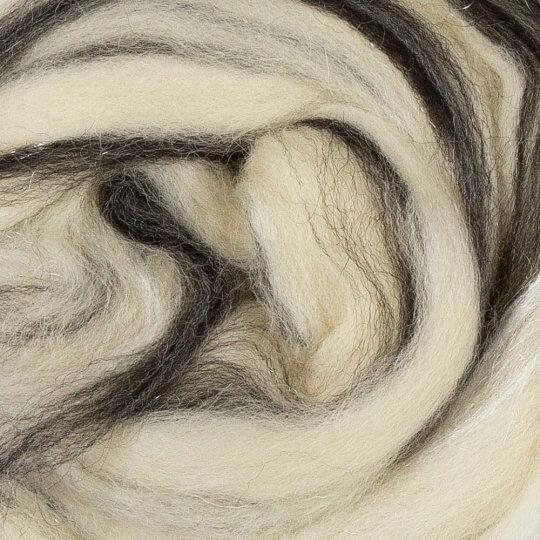 Gazzal Felt Wool Lurex Gri Ebruli Yün Keçe - 6002
