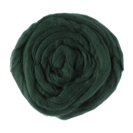 Kartopu Koyu Yeşil Yün Keçe - K415