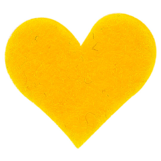 La Mia 1.8x1.5 cm 25'li Sarı Küçük Boy Kalp Keçe Motifler FS307-M09