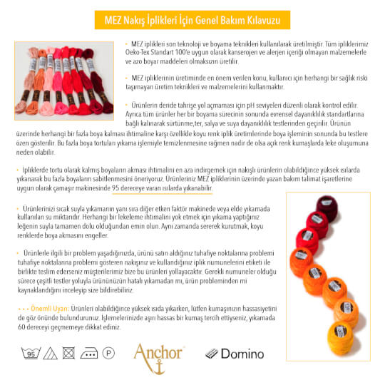 Anchor Muline 8m Sarı Nakış İpliği - 0290
