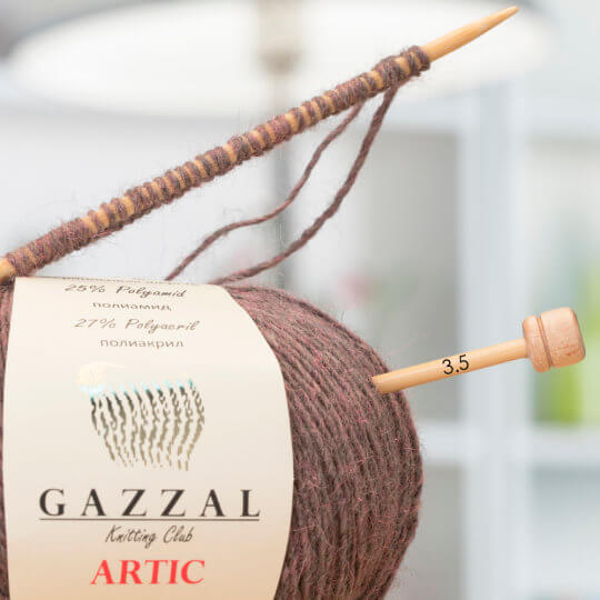 Gazzal Artic Kahverengi  El Örgü İpi - 14