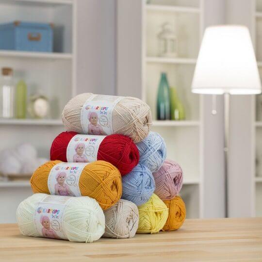 Kartopu Pamuklu Bebe Baby Cotton Açık Yeşil Bebek Yünü - K507