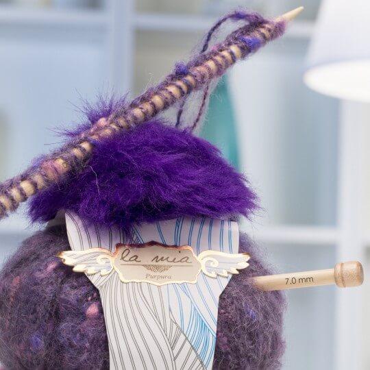 La Mia Purpura 5'li Paket Gri Ebruli El Örgü İpi