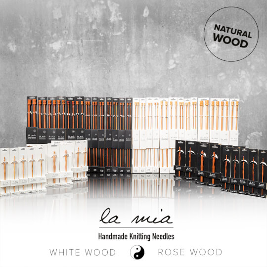 La Mia Whitewood 3 mm 15.5 cm Ahşap Yün Tığ
