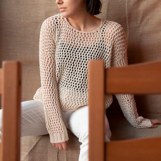 La Mia Mercerized Cotton Koyu Pembe El Örgü İpi - 35