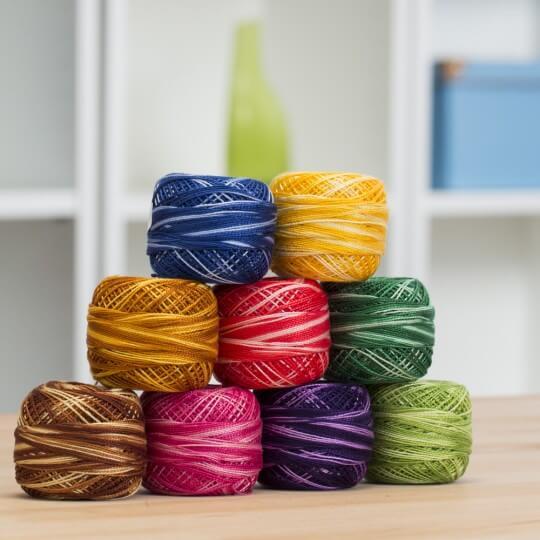 Örenbayan Koton Perle No: 8 Koyu Bakır Rengi Nakış İpliği - 5 - 0351